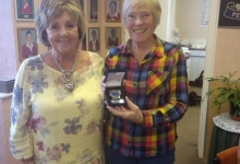 Acting Captain Pat Presenting Linda with her First Medal