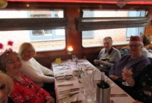 Lunch on the canal barge 3/12/18
