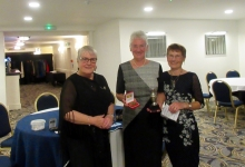 Cathy Ryder, President, Nin Corlett Player of the Year and Acting Captain Sue
