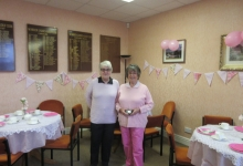 Pink Day organisers Cathy and Joan